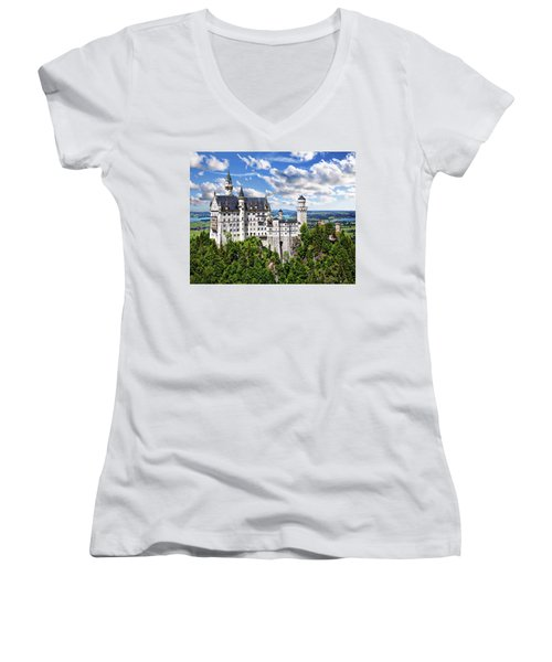 Neuschwanstein Castle Women's V-Neck