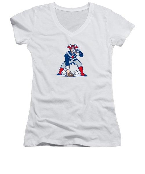New England Patriots Parody Women's V-Neck T-Shirt