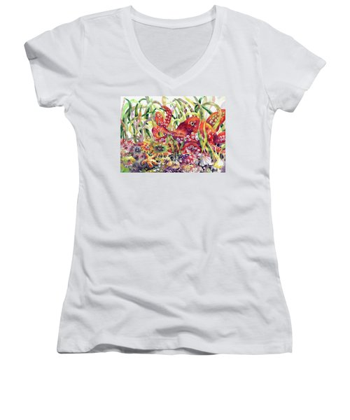Octopus Garden Women's V-Neck (Athletic Fit)