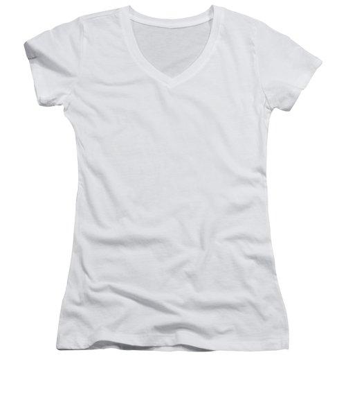 1 Off White Dot Women's V-Neck