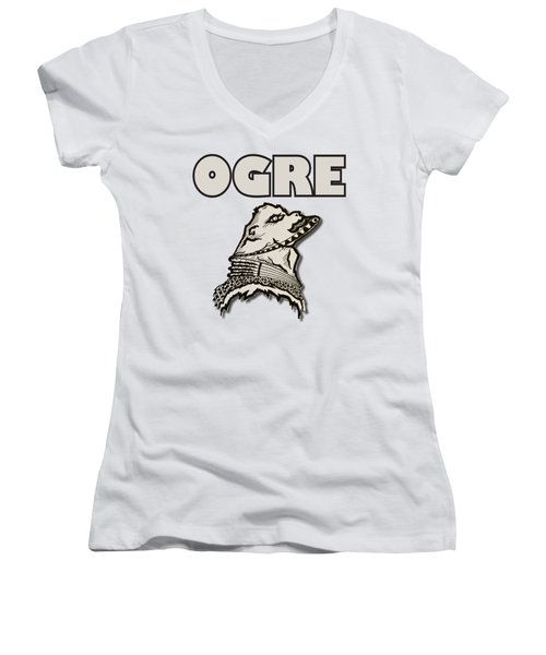 Ogre Women's V-Neck (Athletic Fit)