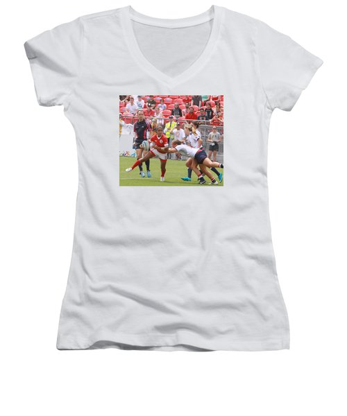 Pam Am Games Womens' 7's Women's V-Neck (Athletic Fit)