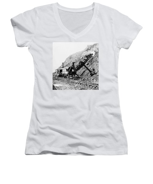 Panama Canal - Construction - C 1910 Women's V-Neck (Athletic Fit)