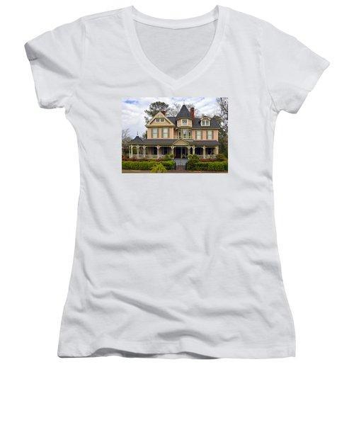 Peach Bainbridge Beauty Women's V-Neck T-Shirt