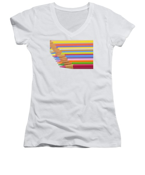 Pencils Women's V-Neck T-Shirt