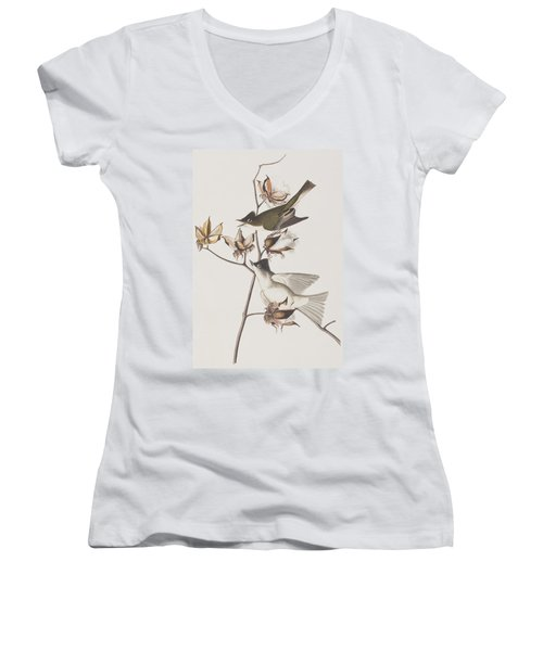 Pewit Flycatcher Women's V-Neck T-Shirt (Junior Cut)