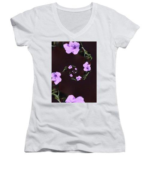 Women's V-Neck T-Shirt (Junior Cut) featuring the photograph Phone Case by Debra     Vatalaro