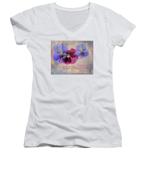 Pleasant Words Women's V-Neck (Athletic Fit)