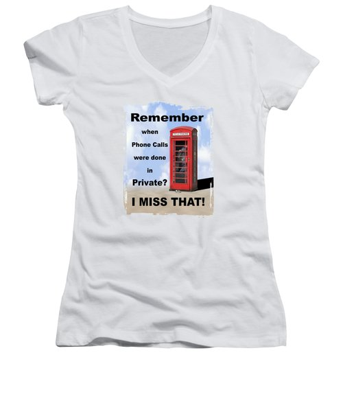 Women's V-Neck T-Shirt (Junior Cut) featuring the photograph Remember When . . . by Mike McGlothlen