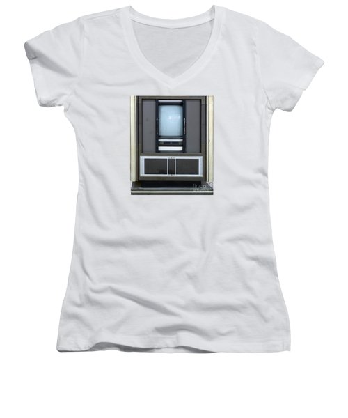 Retro Style Television Set Women's V-Neck