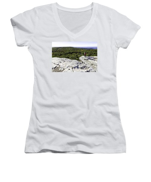Sams Point Overlook Women's V-Neck T-Shirt