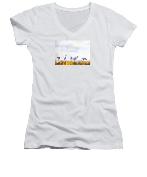 Sandhill Skyline Women's V-Neck