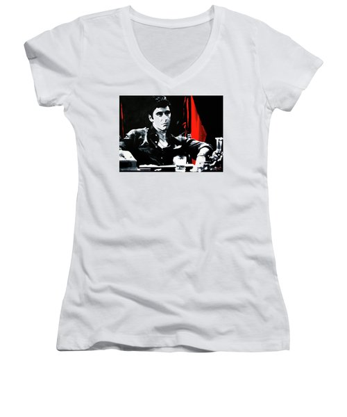 Scarface Women's V-Neck (Athletic Fit)
