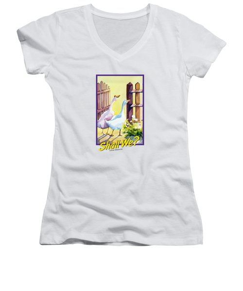 Shall We? Women's V-Neck