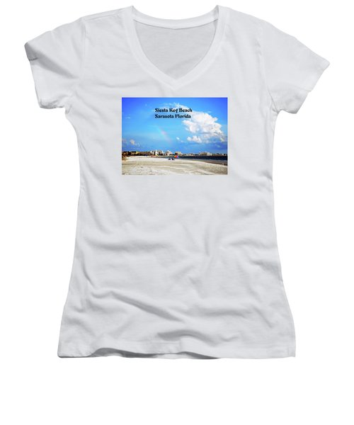 Siesta Beach Women's V-Neck T-Shirt