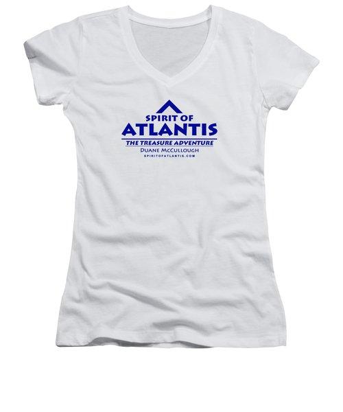Spirit Of Atlantis Logo Women's V-Neck