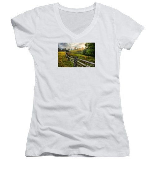 Splash Of Morning Light Ap Women's V-Neck T-Shirt