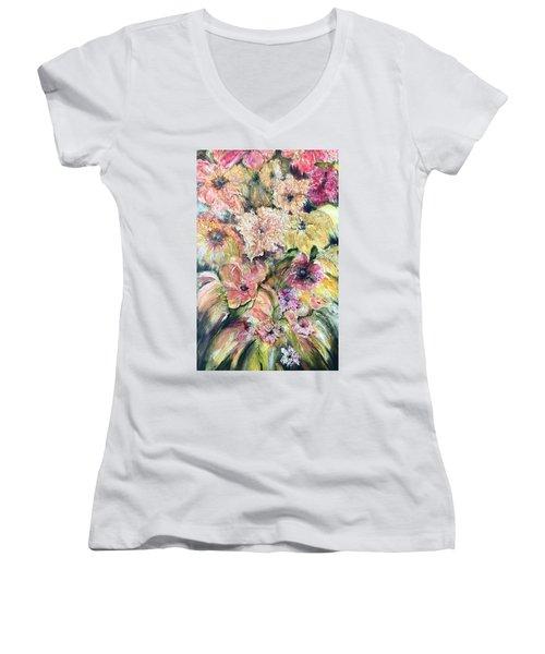 Spring Fireworks Women's V-Neck T-Shirt