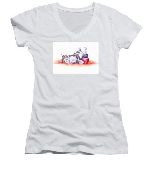 Stolen Lunch Women's V-Neck T-Shirt