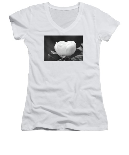 Study In Black And White Women's V-Neck (Athletic Fit)