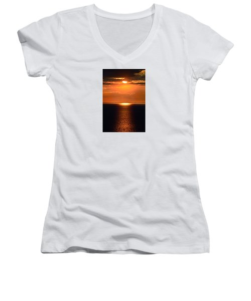 Sun Down Women's V-Neck (Athletic Fit)