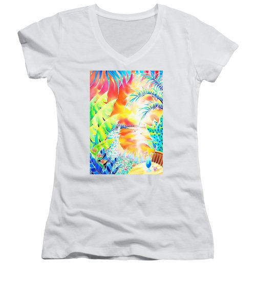 Sunset Cocktail Women's V-Neck
