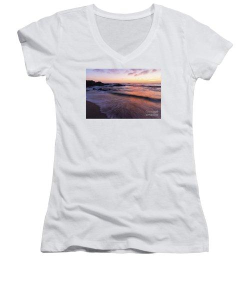 Sunset Over Laguna Beach   Women's V-Neck