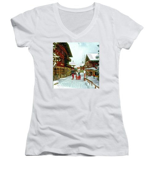 Switzerland Alps Women's V-Neck