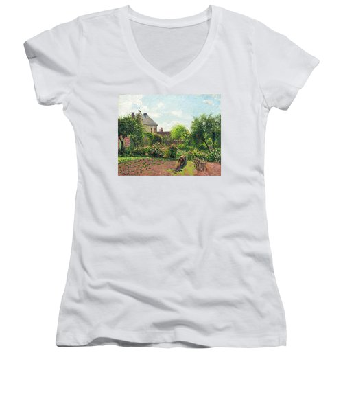 The Artist's Garden At Eragny Women's V-Neck