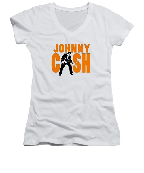 The Fabulous Johnny Cash Women's V-Neck