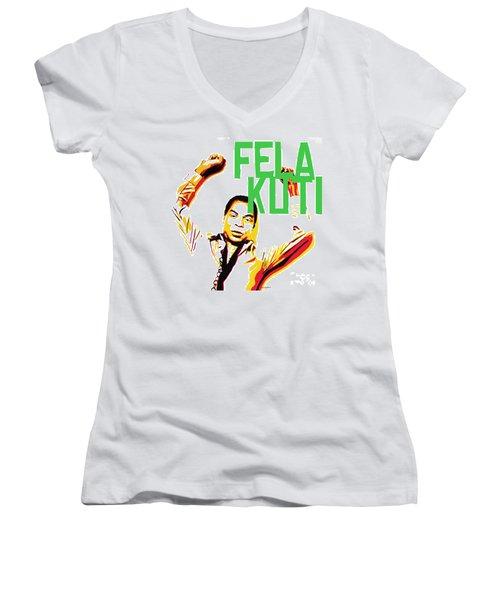 The First Black President Women's V-Neck T-Shirt