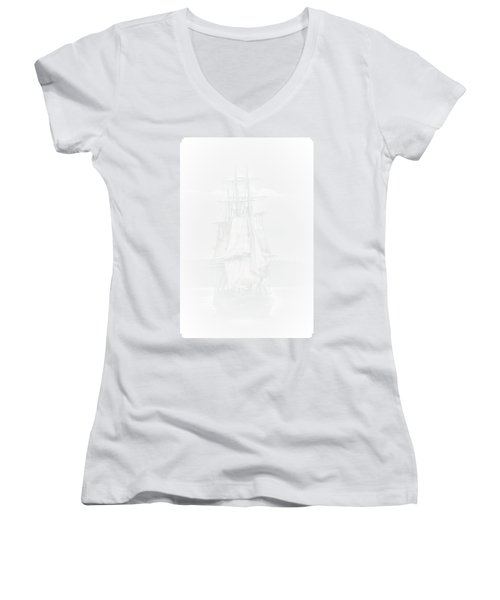 The Ghost Ship Women's V-Neck T-Shirt (Junior Cut) by David Patterson