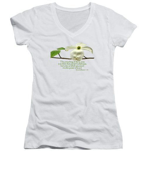 The Truth Women's V-Neck T-Shirt (Junior Cut) by Larry Bishop