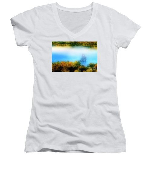 Through The Fog Women's V-Neck