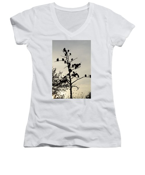 Tree For The Hungry Women's V-Neck (Athletic Fit)