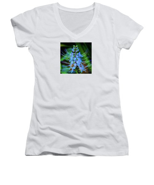 Tropical Plants And Flowers In Hawaii Women's V-Neck