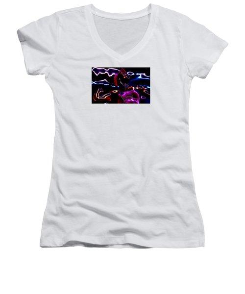 Venus Williams Match Point Women's V-Neck T-Shirt (Junior Cut) by Brian Reaves