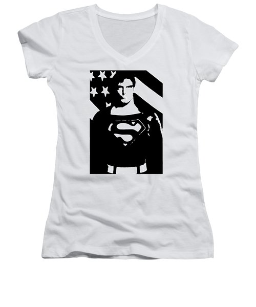 Waiting For Superman Women's V-Neck (Athletic Fit)
