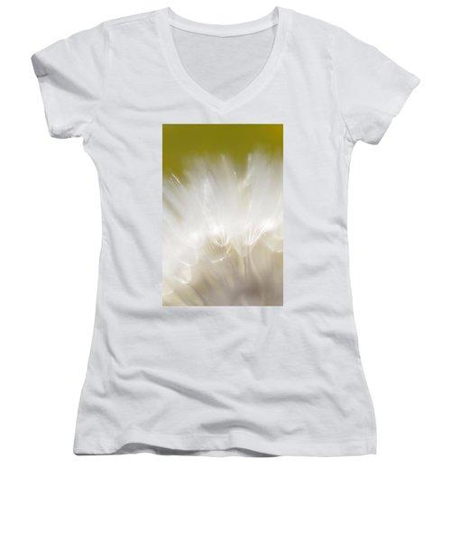 White Blossom 1 Women's V-Neck (Athletic Fit)