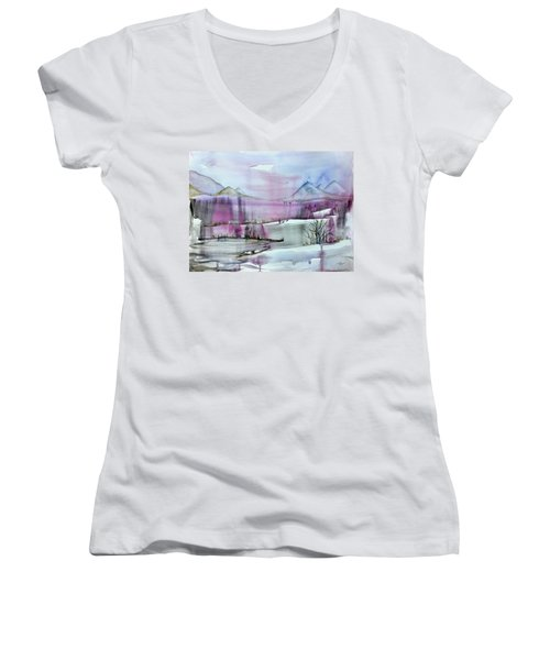 Winter Afternoon Women's V-Neck
