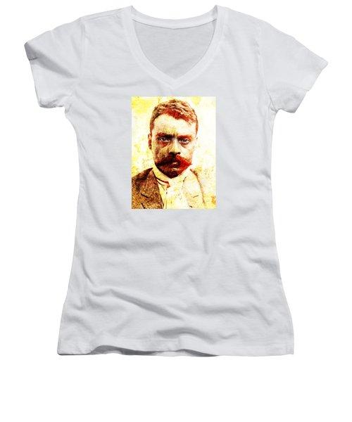 Zapata Women's V-Neck T-Shirt (Junior Cut) by J- J- Espinoza
