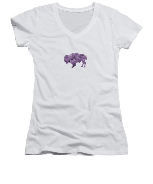 Bison Women's V-Neck T-Shirt