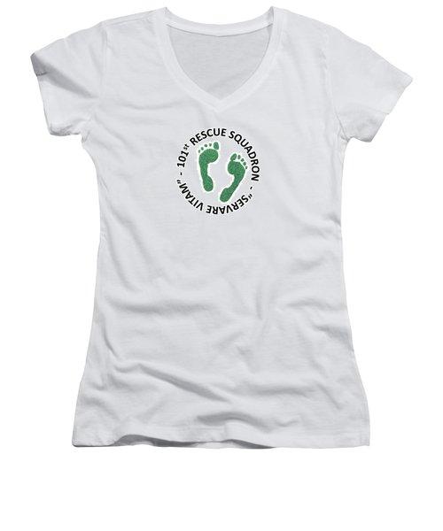 101st Rescue Squadron Women's V-Neck T-Shirt