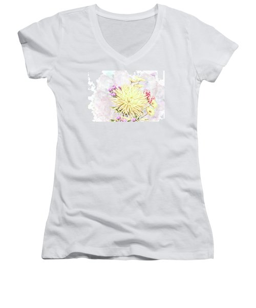 10865 Spring Bouquet Women's V-Neck T-Shirt
