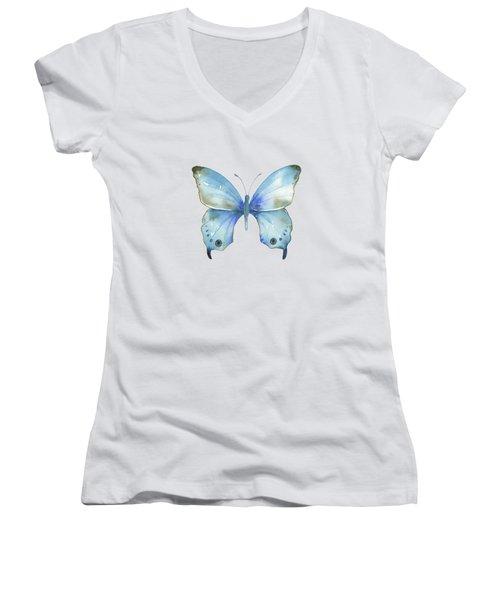 #109 Blue Diana Butterfly Women's V-Neck