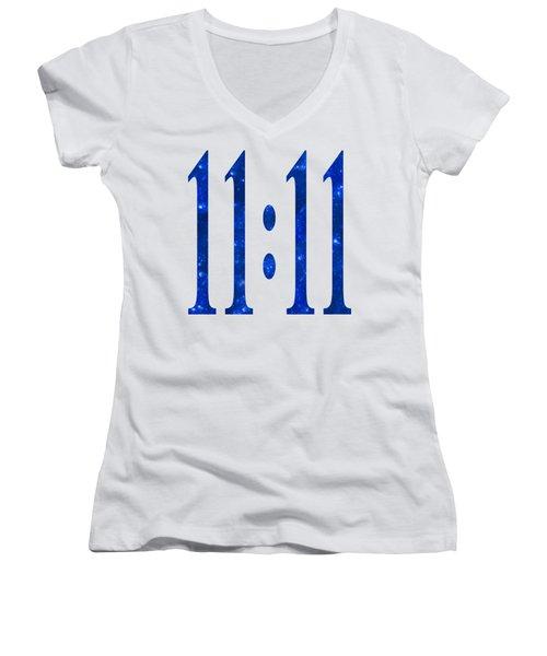 11 11 Women's V-Neck T-Shirt (Junior Cut) by Ginny Gaura
