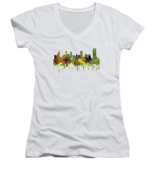 Buffalo New York Skyline Women's V-Neck T-Shirt