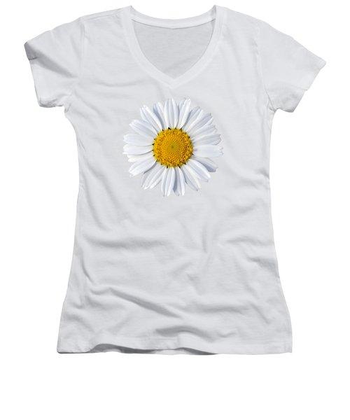Women's V-Neck T-Shirt (Junior Cut) featuring the photograph Daisy by George Atsametakis