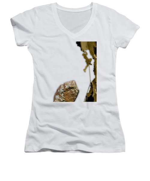 Rock Climber Collection Women's V-Neck (Athletic Fit)