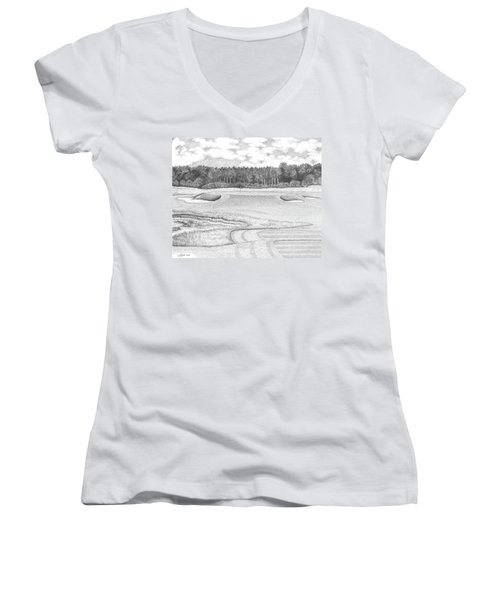 11th Hole - Trump National Golf Club Women's V-Neck T-Shirt